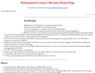mohammedgolam.com screenshot