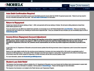 mohela.com screenshot