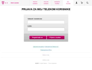 moj.hrvatskitelekom.hr screenshot