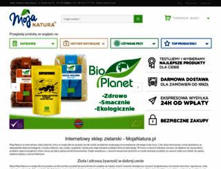 mojanatura.pl screenshot