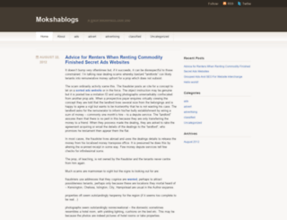mokshablogs.wordpress.com screenshot