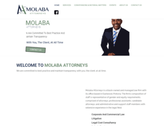 molabaattorneys.co.za screenshot
