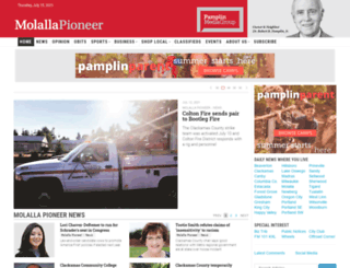 molallapioneer.com screenshot