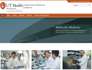 molecularmedicine.uthscsa.edu screenshot