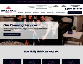 mollymaid.com screenshot