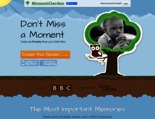 momentgarden.com screenshot