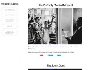 momentjunkie.com screenshot