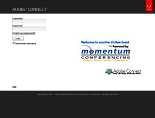 momentum.adobeconnect.com screenshot