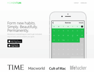 momentum.cc screenshot