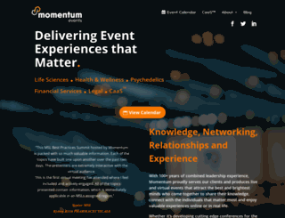 momentumevents.co screenshot
