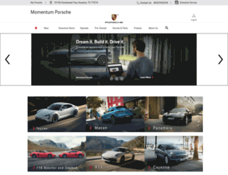 momentumporsche.com screenshot
