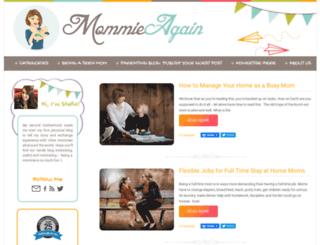 mommieagain.com screenshot