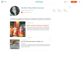 mommymay.hubpages.com screenshot