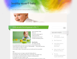 momnbabyhealthy.wordpress.com screenshot