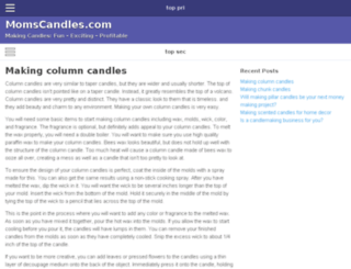 momscandles.com screenshot