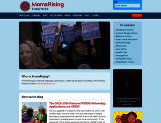 momsrising.org screenshot