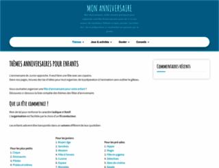 mon-anniversaire.com screenshot