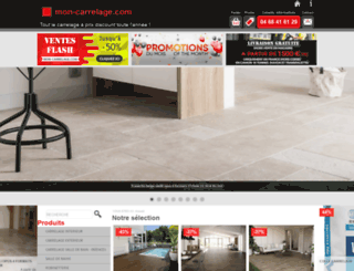 mon-carrelage.com screenshot