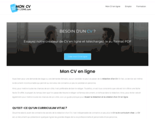 mon-cv-en-ligne.com screenshot