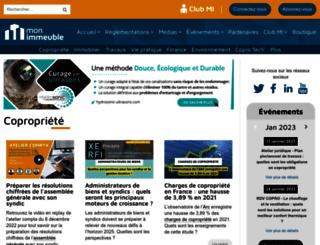 mon-immeuble.com screenshot