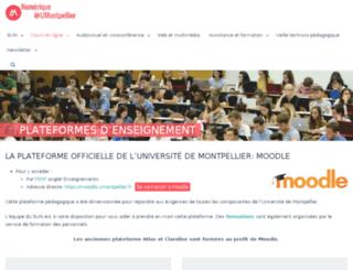 mon.univ-montp2.fr screenshot