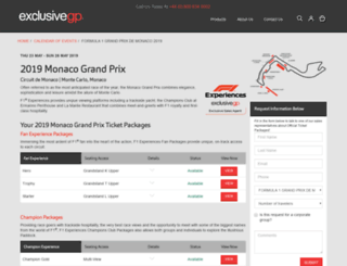monacograndprixpackages.com screenshot