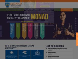 monad.edu.in screenshot