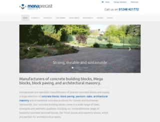 monaprecast.co.uk screenshot