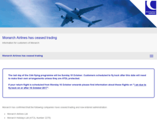 monarchairlineuk.com screenshot