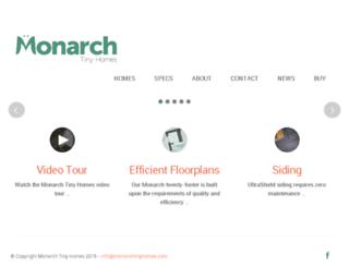 monarchtinyhomes.com screenshot