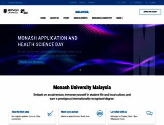 monash.edu.my screenshot