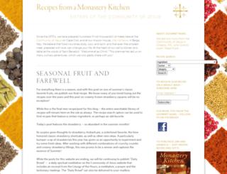 monasterykitchen.org screenshot
