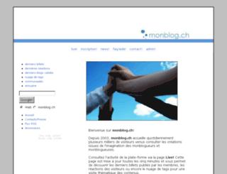 monblog.ch screenshot