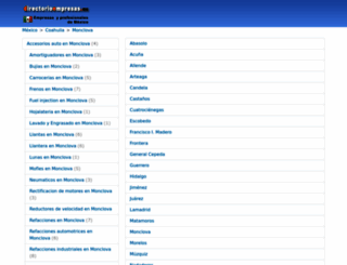 monclova.directorioempresas.mx screenshot