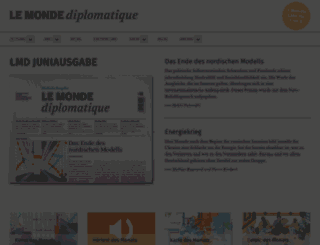 monde-diplomatique.de screenshot