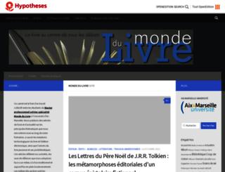mondedulivre.hypotheses.org screenshot