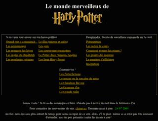 mondeharrypotter.free.fr screenshot