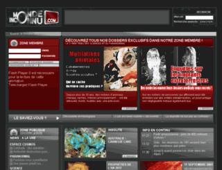 mondeinconnu.com screenshot