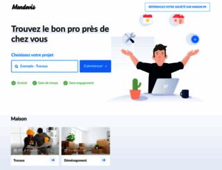 mondevis.fr screenshot