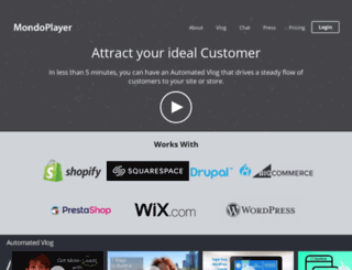 mondoplayer.com screenshot