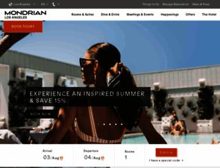 mondrianhotel.com screenshot