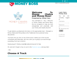 moneyboss.creativemoney.biz screenshot
