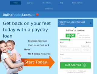 moneyloans.ca screenshot