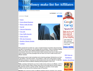 moneymakelist.com screenshot
