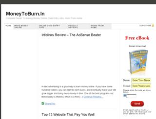 moneytoburnin.com screenshot