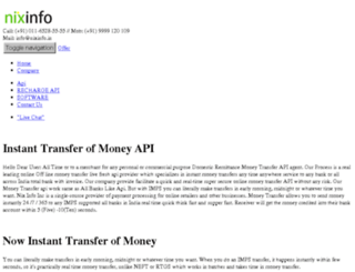 moneytransferapi.co.in screenshot