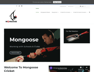mongoosecricket.com screenshot