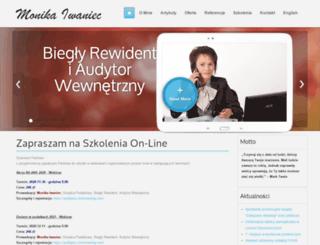 monikaiwaniec.pl screenshot