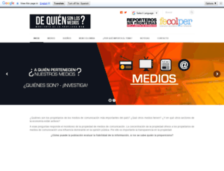 monitoreodemedios.co screenshot
