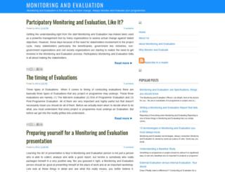 monitoring-and-evaluation.blogspot.com screenshot